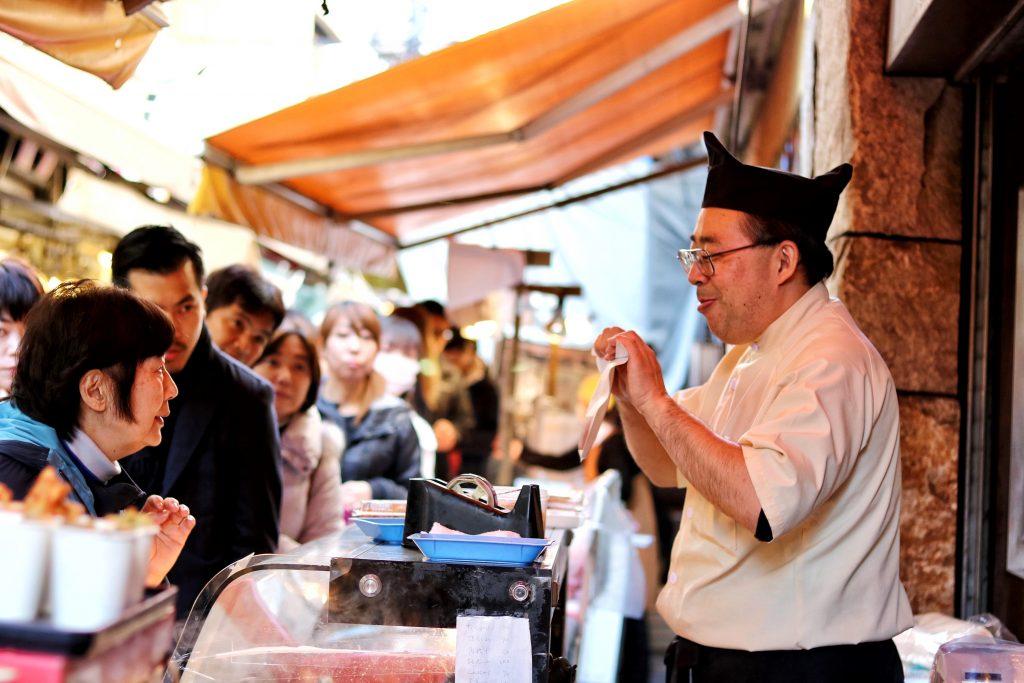 Tsukiji Market Merchant